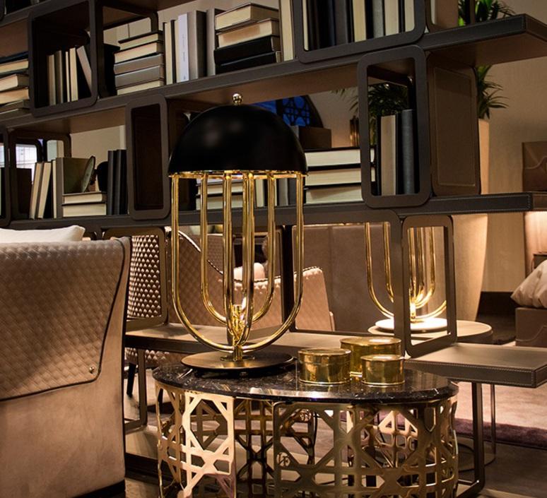 Turner studio delightfull delightfull turner table gold black luminaire lighting design signed 25619 product