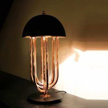 Lampe a poser turner noir et or h60cm delightfull normal