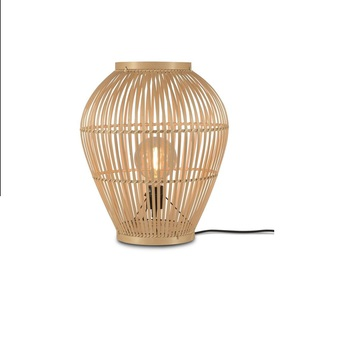 Lampe a poser tuvalu s bois marron o42cm h50cm it s about romi normal
