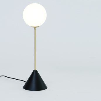 Lampe a poser twin noir led o16cm h47cm atelier areti normal