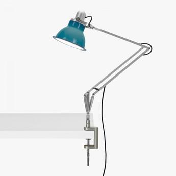 Lampe a poser type 1228 avec pince bleu ocean led o17cm h34 6cm anglepoise normal