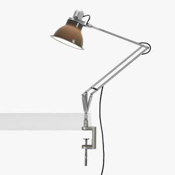 Lampe a poser type 1228 avec pince gris granite led o17cm h34 6cm anglepoise normal