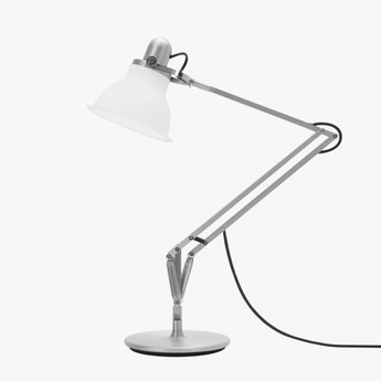 Lampe a poser type 1228 blanc led o17cm h34 6cm anglepoise normal