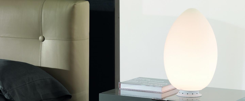Lampe a poser uovo blanc h28cm fontana arte normal