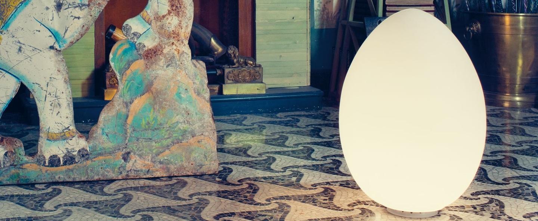 Lampe a poser uovo blanc h62cm fontana arte normal