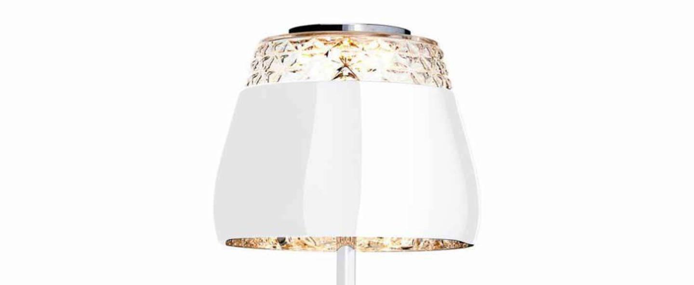 Lampe a poser valentine table blanc led o21cm h45cm moooi normal