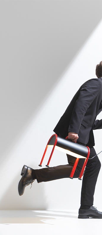 Lampe a poser valigia noir et rouge l35 3cm h37 5cm stilnovo normal