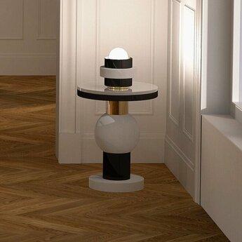 Lampe a poser vendome small noir o16cm h17cm casalto normal