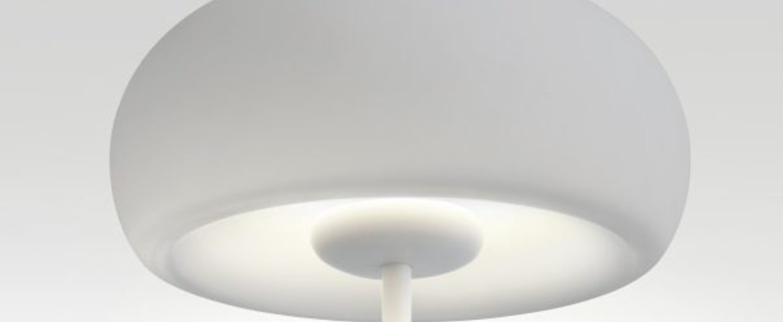Lampe a poser vetra blanc led o32cm h54cm marset normal