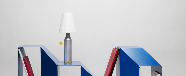 Lampe a poser vulcain m aluminium o18cm h45cm la chance normal