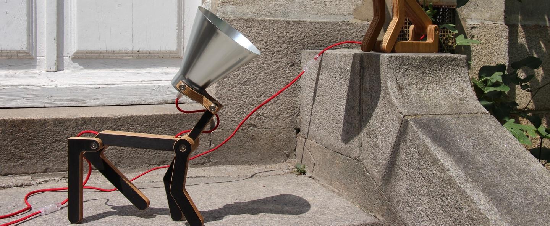 Lampe a poser waaf noir aluminium h45cm structures normal