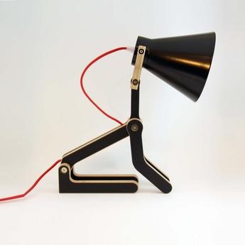 Lampe a poser waaf noir h45cm structures normal