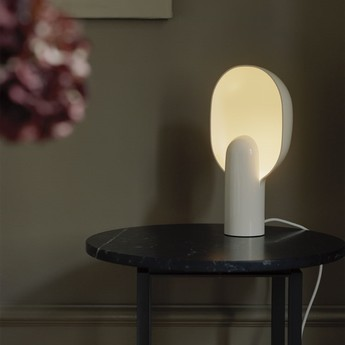 Lampe a poser ware blanc l20cm h34cm new works normal