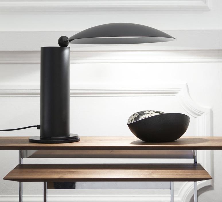 lampe poser washington led noir h39cm 2700k 730lm lumen center italia luminaires nedgis. Black Bedroom Furniture Sets. Home Design Ideas