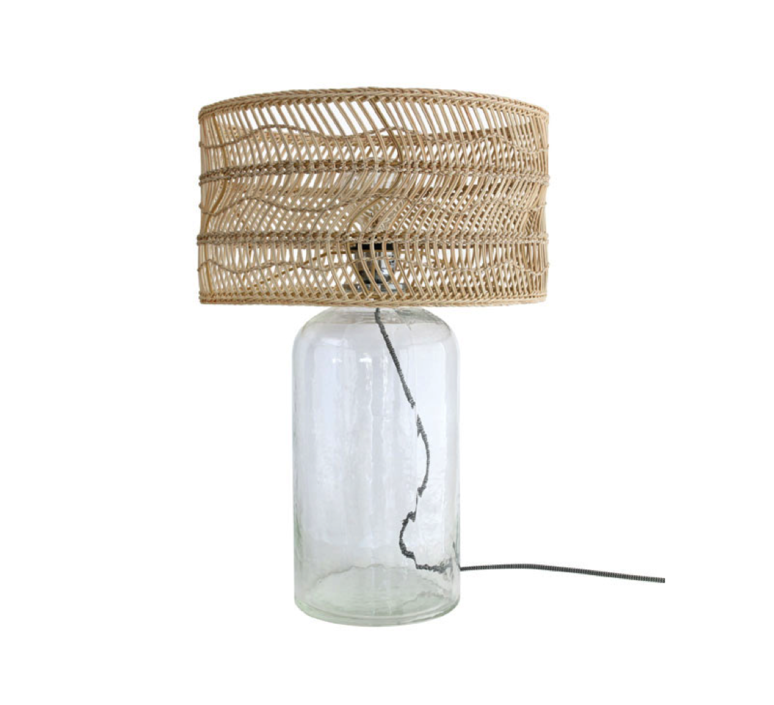 Wicker bottle studio hk living lampe a poser table lamp  hk living vol5011   design signed 39086 product