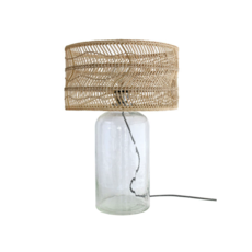 Wicker bottle studio hk living lampe a poser table lamp  hk living vol5011   design signed 39086 thumb
