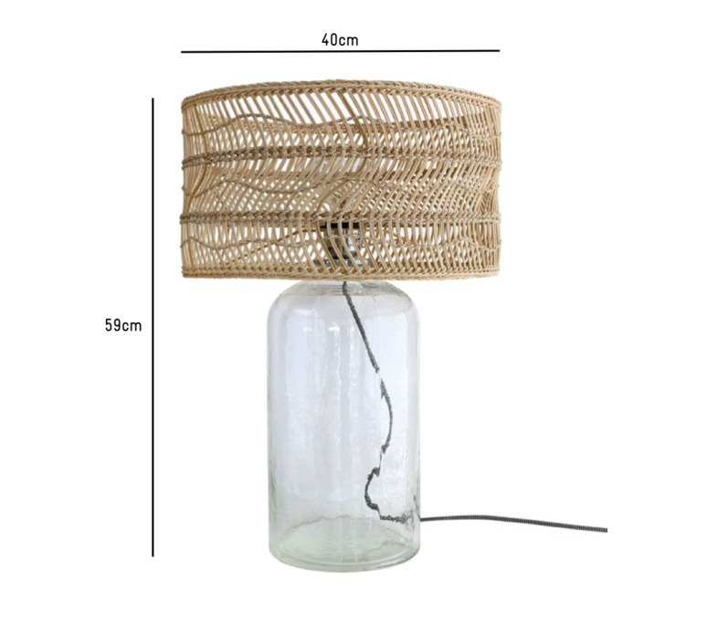 Wicker bottle studio hk living lampe a poser table lamp  hk living vol5011   design signed 39087 product