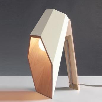 Lampe a poser woodspot blanc h44cm seletti normal