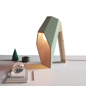 Lampe a poser woodspot vert h44cm seletti normal