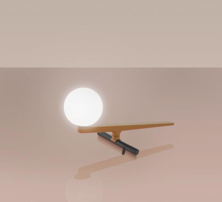 Yanzi neri et hu lampe a poser table lamp  artemide 1101010a  design signed 43109 product