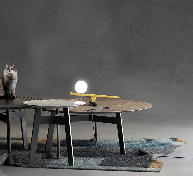 Yanzi neri et hu lampe a poser table lamp  artemide 1101010a  design signed 55194 product