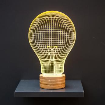 Lampe a poser yellow bulb jaune l15cm h23cm studio cheha normal