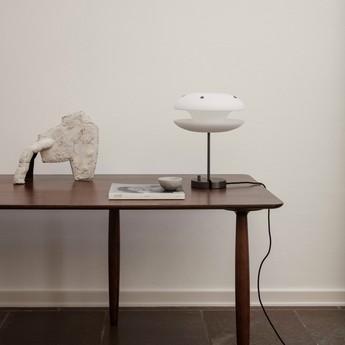 Lampe a poser yo yo 3 verre opal blanc led dimmable o33cm h42cm norr11 normal