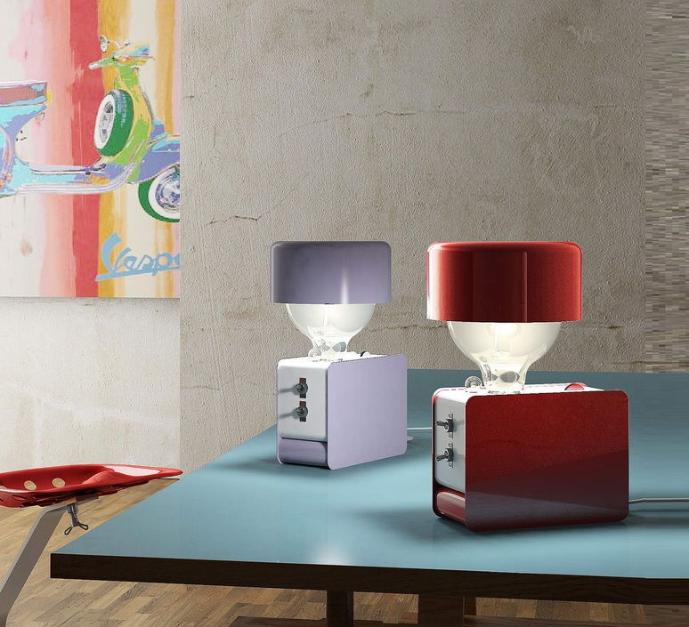 Zak enrico azzimonti zava zak carmine red 3002 with lampeshape luminaire lighting design signed 17393 product