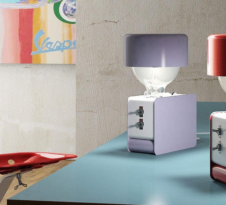 Zak enrico azzimonti zava zak blue lilac 4005 with lampeshape luminaire lighting design signed 17395 product