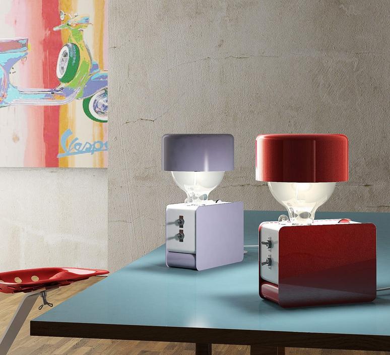 Zak enrico azzimonti zava zak blue lilac 4005 with lampeshape luminaire lighting design signed 17397 product