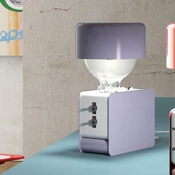 Lampe a poser zak violet h30cm zava normal