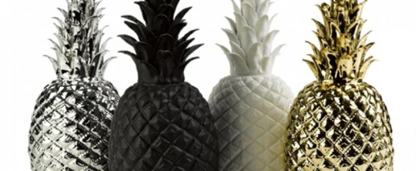 Lampe ananas pina colada argente h32cm goodnight light normal