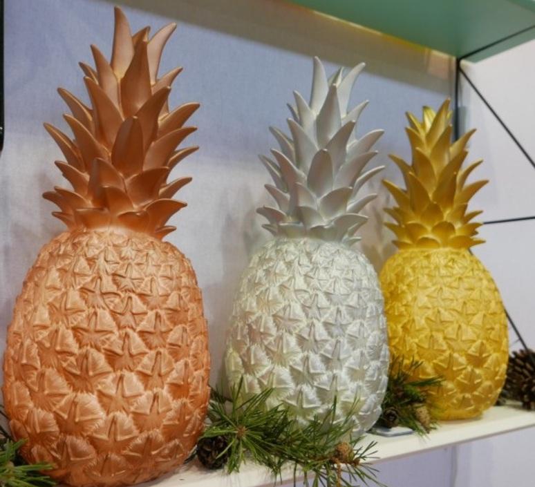 Ananas pina colada eva newton goodnight light pina colada argente luminaire lighting design signed 21569 product