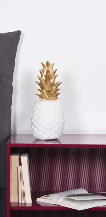 Lampe ananas pina colada or blanc h32cm goodnight light normal