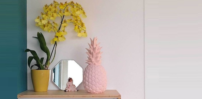 Lampe ananas pina colada rose pastel h32cm goodnight light normal