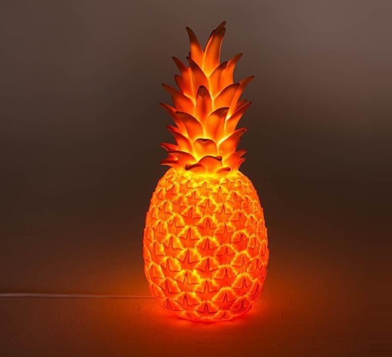Ananas pina colada eva newton goodnight light pina colada rouge fluo luminaire lighting design signed 21533 product