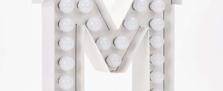 Lampe applique murale vegaz lettre m blanc h60cm seletti copy of 8008215000480 normal