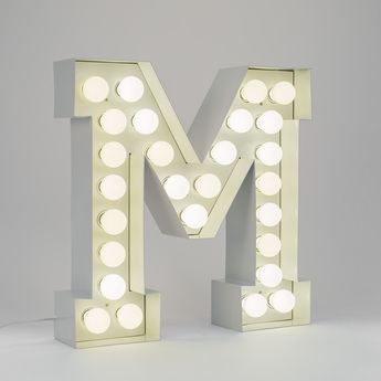 Lampe applique murale vegaz lettre m blanc h60cm seletti copy of 8008215000480 normal