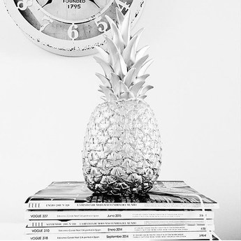 Lampe baladeuse ananas pina colada argente h32cm goodnight light normal