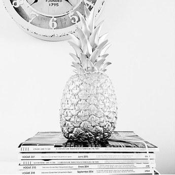 Lampe baladeuse ananas pina colada argente h32cm goodnight light normal