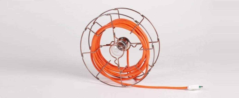 Lampe baladeuse arianna orange h30cm zava normal