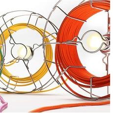 Arianna paolo ulian zava ariana lampe chrome cable orange rayon luminaire lighting design signed 17457 thumb