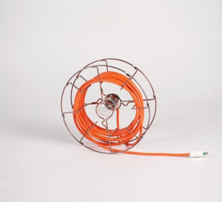 Arianna paolo ulian zava ariana lampe chrome cable orange rayon luminaire lighting design signed 17459 product