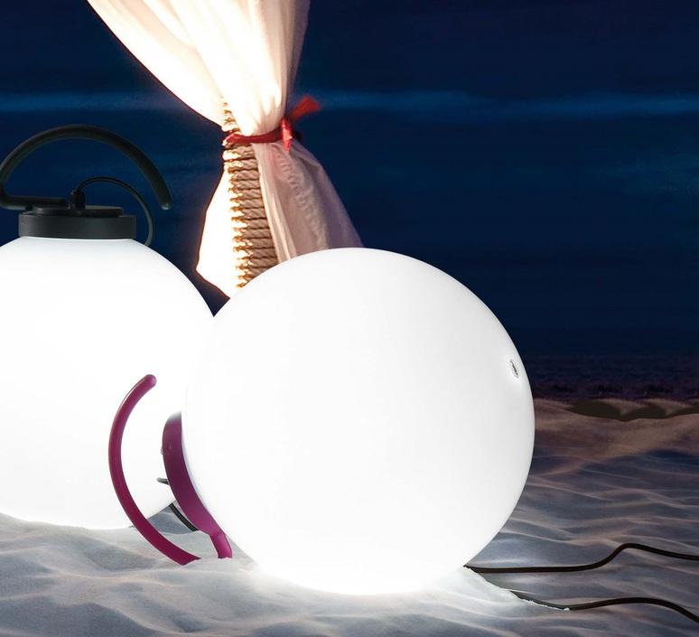 lampe baladeuse d 39 ext rieur nuk blanc fuchsia h41 6cm faro luminaires nedgis. Black Bedroom Furniture Sets. Home Design Ideas