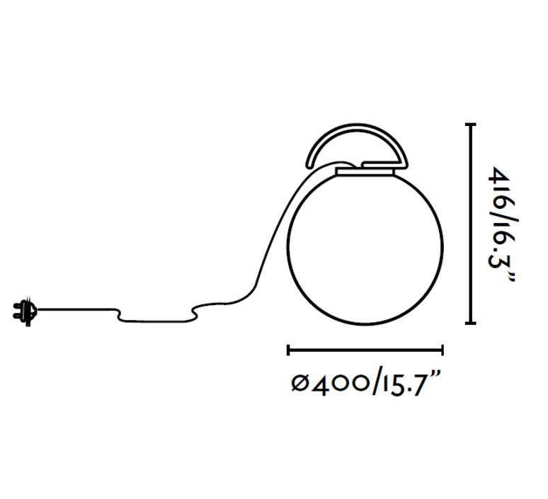 Lampe baladeuse d 39 ext rieur nuk blanc fuchsia h41 6cm for Baladeuse design exterieur