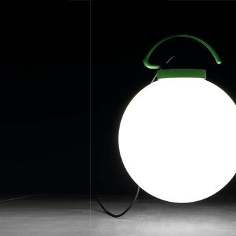 Lampe baladeuse d exterieur nuk blanc vert h41 6cm faro normal