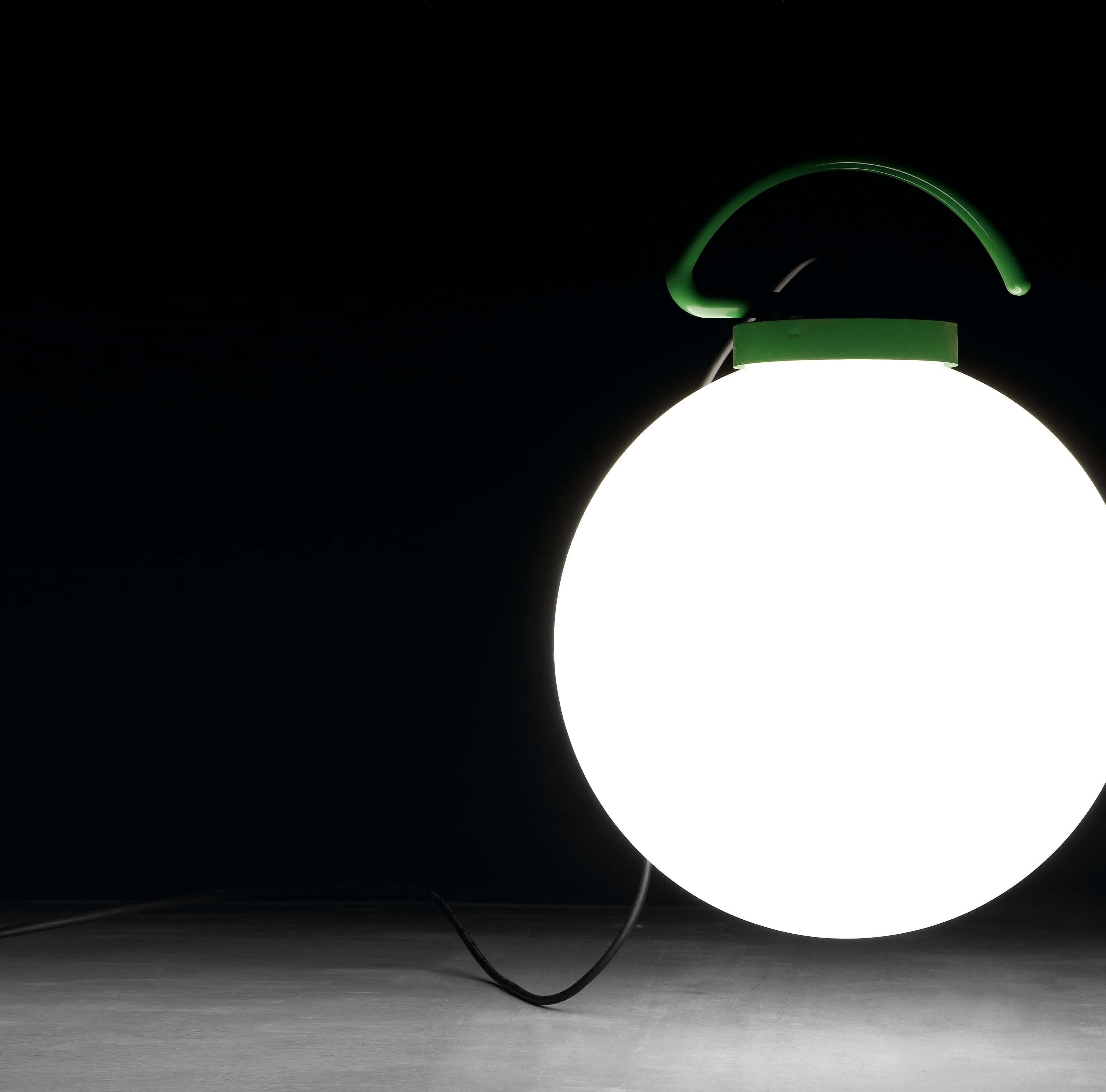 Lampe baladeuse d 39 ext rieur nuk blanc vert h41 6cm for Lampe chauffante exterieur
