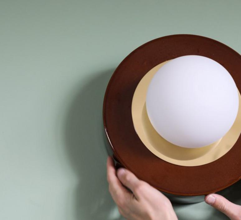1 02 sophie gelinet et cedric gepner lampe a poser table lamp  haos 1 02 cognac  design signed 41567 product