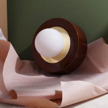 Lampe ceramique 1 02 cognac led o27cm h24cm haos normal