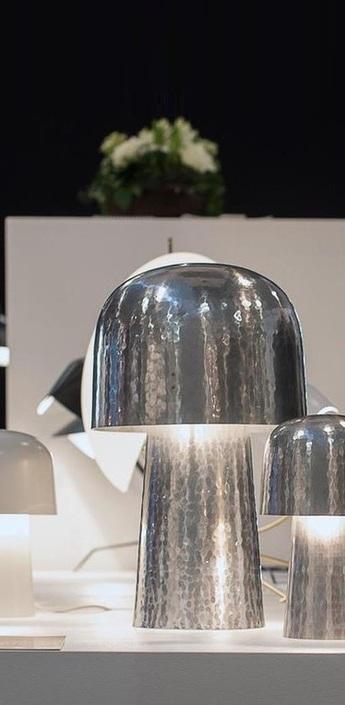Lampe chapeliere aluminium martele h43 5cm lignes de demarcation normal